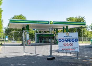 10 juli heropening BP Tankstation na brand in de shop