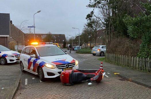 Rijder op gestolen scooter aangehouden met hulp van omstander