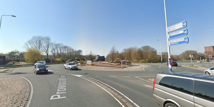 Dit weekend Provincialeweg tussen A7 enKeernafgesloten; turborotonde wordt verwijderd