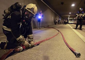 Provincie houdt grootschalige en realistische oefening voor tunnelveiligheid