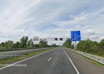 A7 Hoorn-Abbekerk vanaf 2 juni meerdere avonden/nachten afgesloten