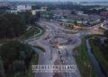 Dronve video over werkzaamheden turborotonde Hoorn