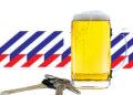 Spoor vernielingen van dronken automobilist eindigt in winkelpui Heerhugowaard